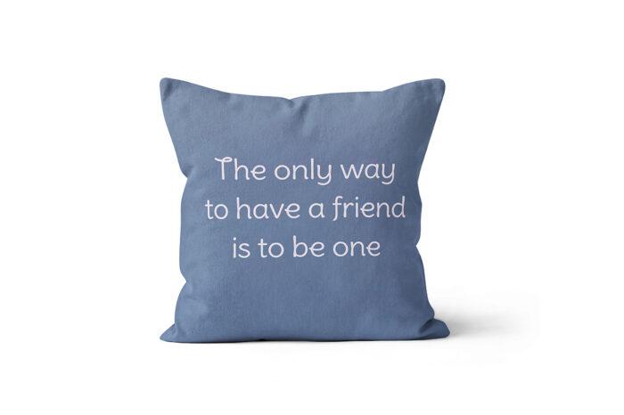 Almofada Be a Friend menino